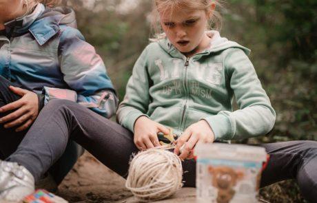 Bouwen en knutselen in het bos